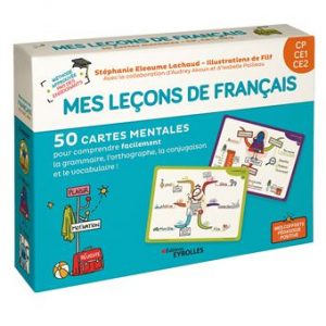 Couverture d'ouvrage: Mes leçons de français CP CE1 CE2: 50 cartes mentales