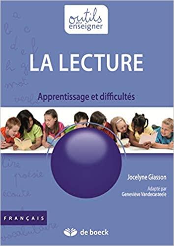 Couverture d'ouvrage: La lecture : Apprentissage et difficultés de Jocelyne Giasson